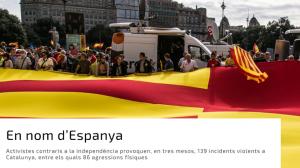 EN NOM D'ESPANYA: 129 incidents violents espanyolistes en tres mesos